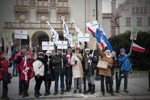 23.01.16 wspaniali z Puszczykowa na demo KODu w Poznaniu