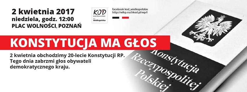Konstytucja ma głos – manifa w Poznaniu