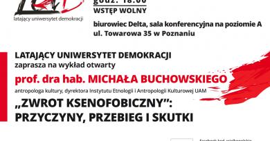 LUD zaprasza na wykład prof. Buchowskiego o zwrocie ksenofobicznym