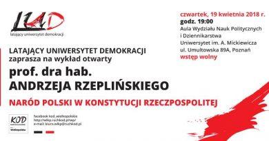 Zapraszamy na spotkanie z prof. Andrzejem Rzeplińskim