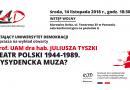 """Zapraszamy na wykład prof. Tyszki """"Teatr polski 1944-1989. Dysydencka muza?"""""""
